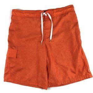 OP Men's Swim Trunks Orange Shorts Size Large